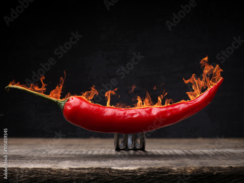 Foto op Plexiglas Hot chili peppers Red hot pepperoni