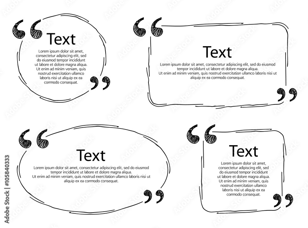 Fototapety, obrazy: Quote frames templates set illustration.