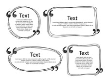 Quote Frames Templates Set Illustration.