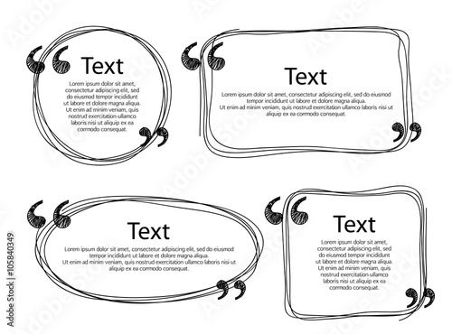 Quote frames templates set illustration. Fototapeta