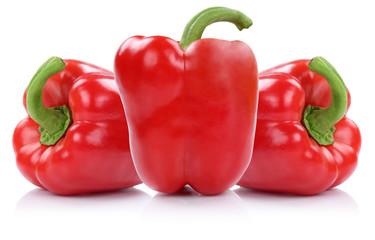 Paprika rot Paprikas Gemüse Freisteller freigestellt isoliert