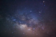 canvas print picture - Close-up of Milky Way Galaxy, Long exposure photograph, with gra