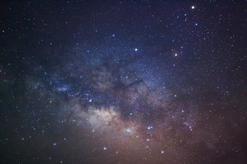 Fototapeta Close-up of Milky Way Galaxy, Long exposure photograph, with gra