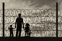 Silhouette Of A Family With Ch...