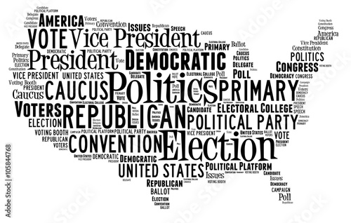 Valokuva Word Cloud showing election words