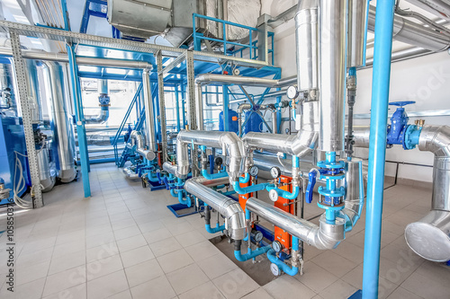 Poster Maroc Water pipe-lines stainless steel construction at factory