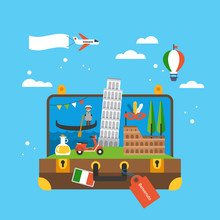 Travel To Italy Concept With L...