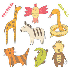 Tropic animals collection