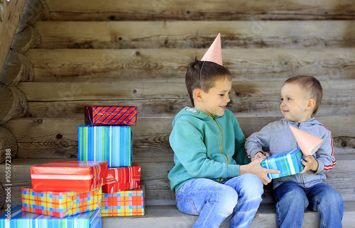 Fotografia, Obraz  many gifts on the child's birthday