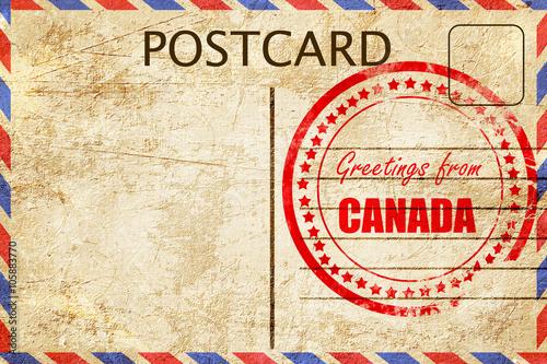 Vászonkép  Greetings from canada