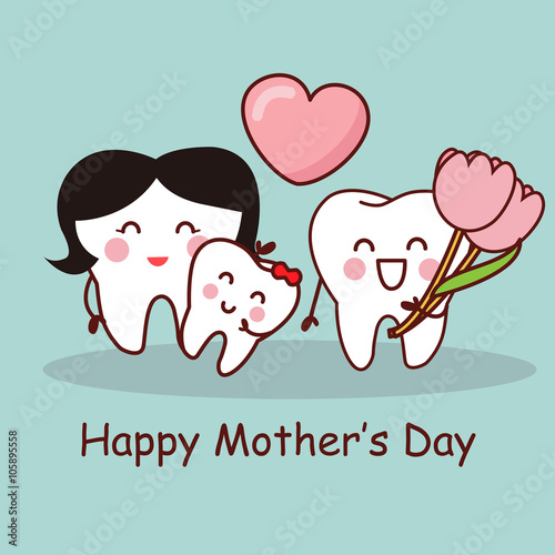 Valokuva  tooth with Happy Mother Day