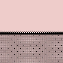 Pink Background With Seamless Black Lacy Border.