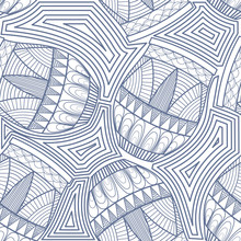 Seamless Pattern With Ethnic Drums. Vector Illustration