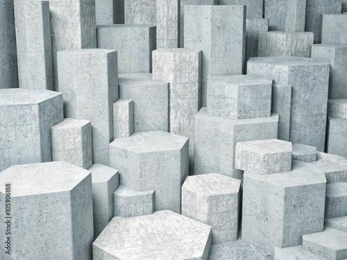 fototapeta na ścianę 3d geometric wall