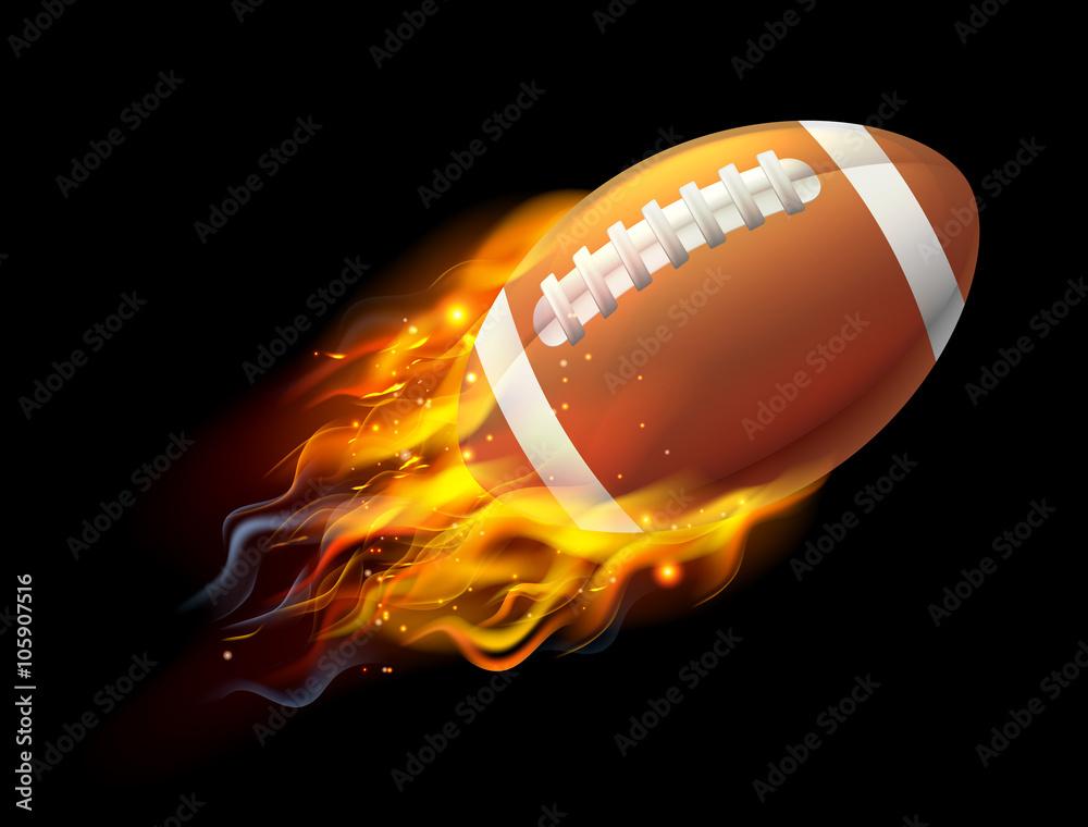 Photo  American Football Ball on Fire