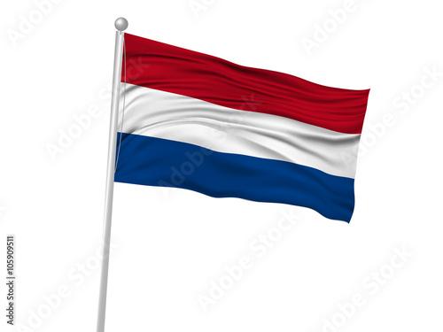 Canvas Print オランダ  国旗 旗 アイコン
