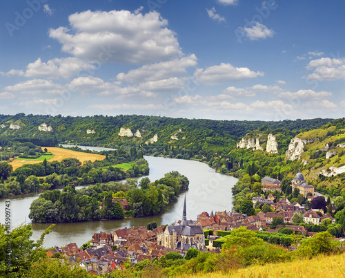 Fotografia  The River Seine and Les Andelys, Normandy, France