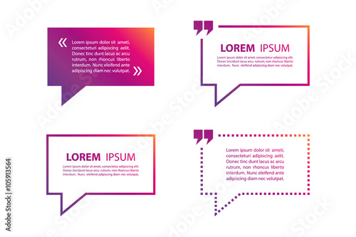 Fotografía  Set of quote text bubble template