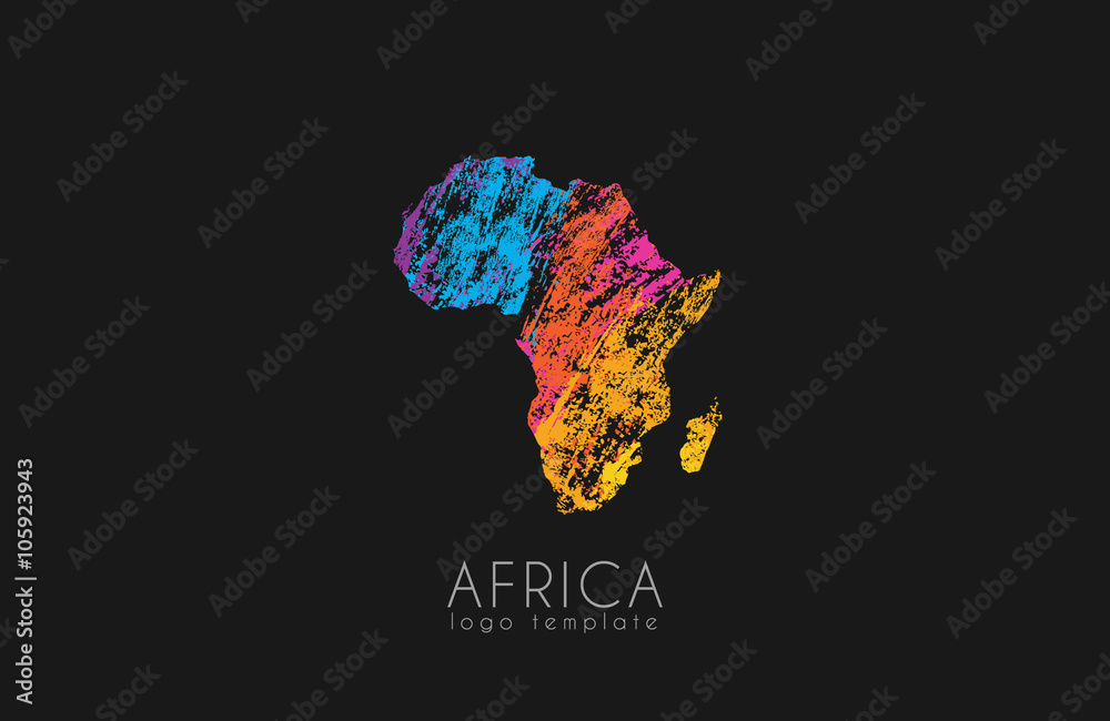 Fototapety, obrazy: Abstract africa logo. Color Africa logo. Colorful logo design.