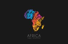 Abstract Africa Logo. Color Af...