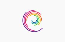 Spiral Design Logo. Round Logo...