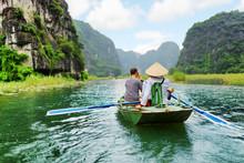 Tourists In Boat, Vietnam.