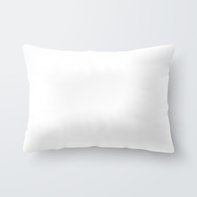 Blank White Rectangular Pillow...