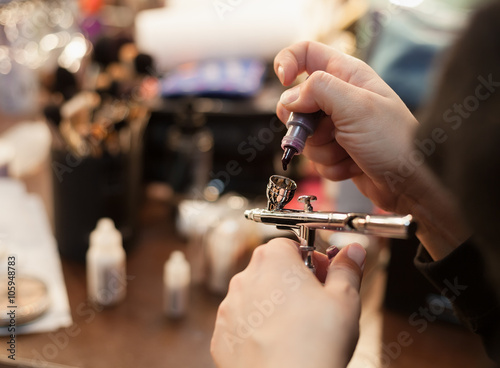 Photo Filling the make up airbrush