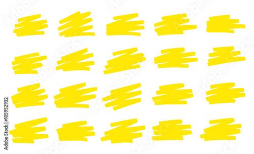 Fényképezés  Gribouillis Jaune Surligneur - Yellow Scribbles Marker pen
