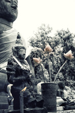 Offerings At A Buddha Statue I...