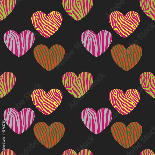 Seamless pattern with heart shapes - 105962735