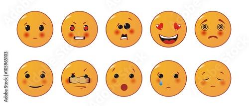 Photo  Set of Emoticons