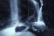 Waterfall At Night Detail