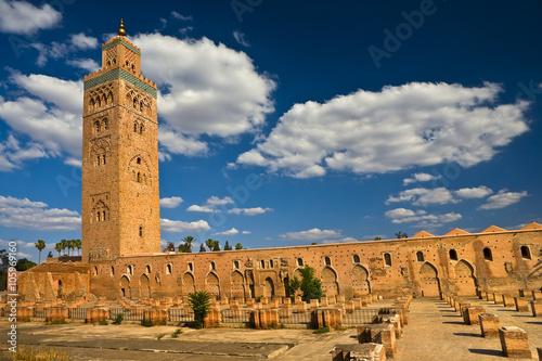 Papiers peints Maroc Morocco. Marrakech. Mosque of Koutoubia