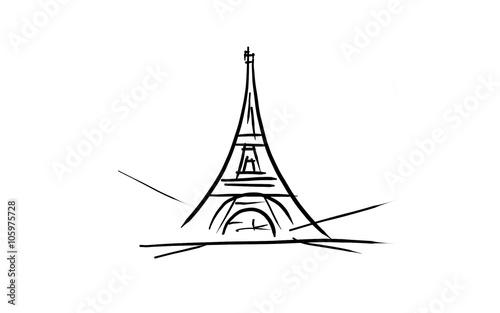 Tour Eiffel Dessin Noir Et Blanc