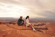 Couple in Canyonlands National Park USA