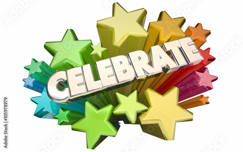 Celebrate Success Winning Goal Achieved Accomplished Stars 3d Wo