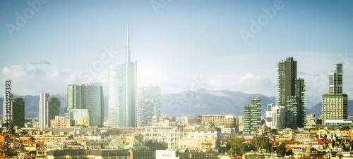In de dag Milan Milan (Milano) skyline with new skyscrapers