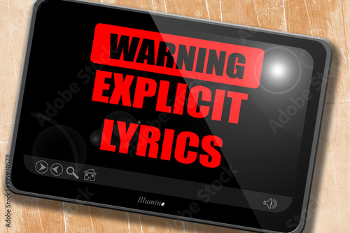 Photo  Explicit lyrics sign