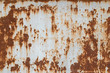 canvas print picture - rust metal plate texture