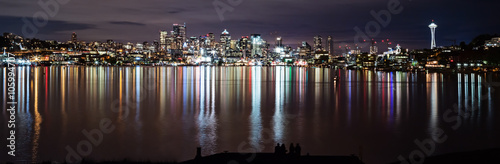 Nightview from Gasworks Park – Seattle