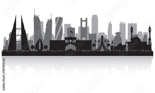 Photo Manama Bahrain  city skyline silhouette