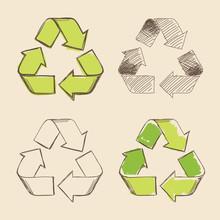 Recycling Symbol Vector Hand D...