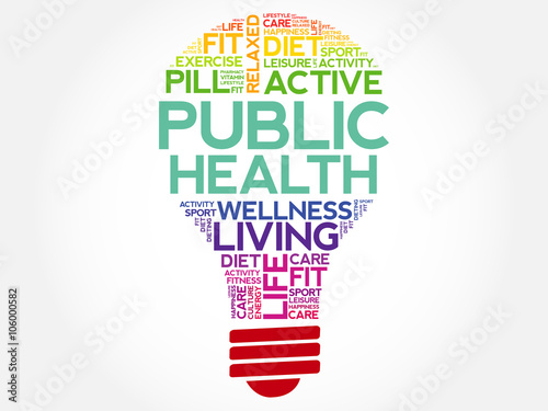 Public Health Bulb Word Cloud Health Concept Background Buy This