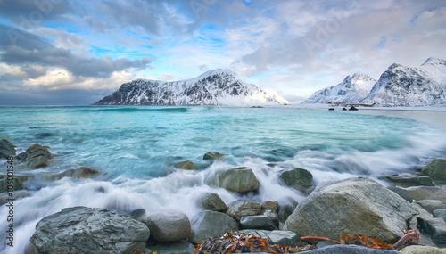 Fotografie, Obraz  arktische Kälte am Strand