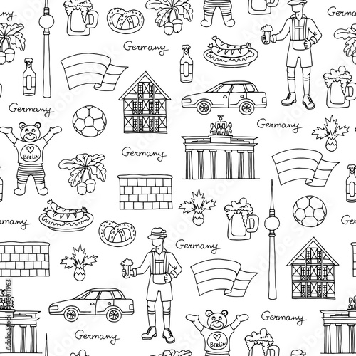 wektor-wzor-z-recznie-rysowane-na-bialym-tle-symbole-niemiec-na-bialy-kolor