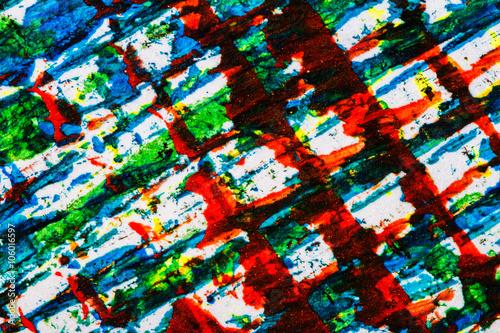 Spoed Fotobehang Psychedelic Abstract art background
