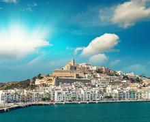 Ibiza Port On A Beautiful Day. Balearic Islands