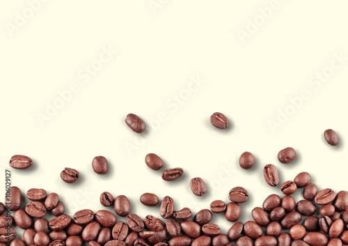 Poster de jardin Café en grains Coffee.