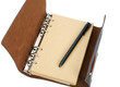 recycled paper notebook with leather cover